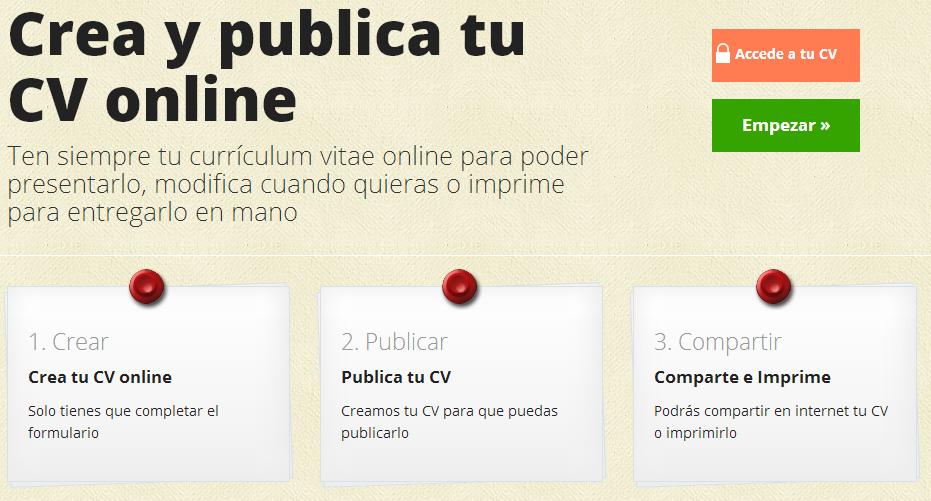 Un Web Que Nos Ayuda A Crear Nuestro Curriculum Vitae De Forma